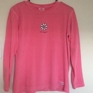 Life is Good pink long sleeve tee 🌻